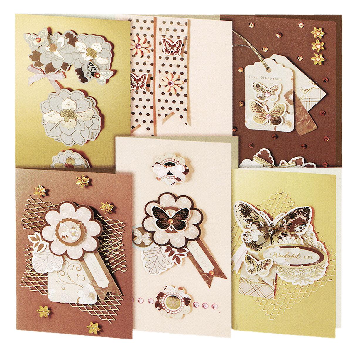 Набор для создания открыток Белоснежка Бабочки, 6 шт217-SBНабор для создания открыток Белоснежка Бабочки позволит вам и вашему ребенку создать 6 оригинальных открыток из картона в стиле 3D скрапбукинг. Набор включает в себя все необходимое для работы: 6 заготовок для открыток, 6 конвертов, клеевые подушечки, декоративные элементы (вырубка из бумаги в форме бабочек и цветов, ленты, паетки, стразы, полубусины) и подробную инструкцию на русском языке. Скрапбукинг - это хобби, которое способно приносить массу приятных эмоций не только человеку, который этим занимается, но и его близким, друзьям, родным. Это невероятно увлекательное занятие, которое поможет вам сохранить наиболее памятные и яркие моменты вашей жизни, а также интересно оформить интерьер дома. Размер малой открытки: 11,5 см х 17 см. Размер большой открытки: 11,5 см х 21 см.