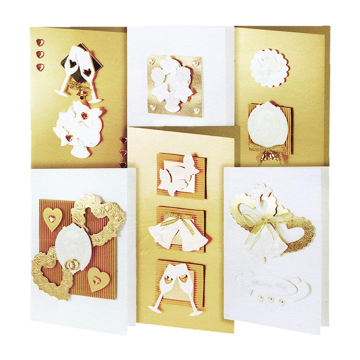 Набор для создания открыток Белоснежка Любовь, 6 шт215-SBНабор для создания открыток Белоснежка Любовь позволит вам и вашему ребенку создать 6 оригинальных открыток из картона в стиле 3D скрапбукинг. Набор включает в себя все необходимое для работы: 6 заготовок для открыток, 6 конвертов, клеевые подушечки, бумага для скрапбукинга, декоративные элементы (вырубка из бумаги, ленты, паетки, стразы, полубусины в форме сердца) и подробную инструкцию на русском языке. Скрапбукинг - это хобби, которое способно приносить массу приятных эмоций не только человеку, который этим занимается, но и его близким, друзьям, родным. Это невероятно увлекательное занятие, которое поможет вам сохранить наиболее памятные и яркие моменты вашей жизни, а также интересно оформить интерьер дома. Размер малой открытки: 11,5 см х 17 см. Размер большой открытки: 11,5 см х 21 см.