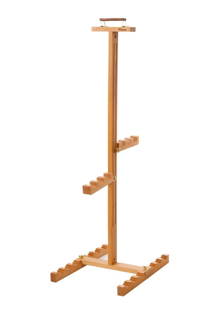 Держатель для холстовCH-01Держатель для сушки и хранения сырых холстов (неоконченных работ) вмещает до 6 полотен. Пазы рассчитаны как на стандартную ширину подрамника, так и на увеличенную (до 40 мм).