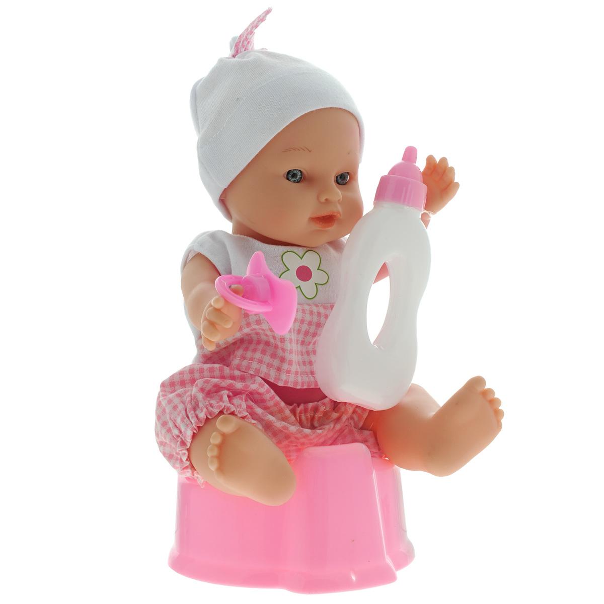 Mary Poppins Пупс с горшком451112Пупс Mary Poppins, одетый в симпатичный комбинезон и шапочку, порадует вашу малышку и доставит ей много удовольствия от часов, посвященных игре с ним. Этот пупс требует к себе особого внимания и любит, когда о нем заботятся. Кроху легко приучить к горшку - достаточно напоить пупса из бутылочки, а затем посадить на розовый горшок. В комплект входят пупс, бутылочка, горшок и соска. Пупс с аксессуарами упакован в удобный прозрачный рюкзачок, который можно взять с собой на прогулку или в поездку. Игра с пупсом Mary Poppins разовьет в вашей малышке фантазию и любознательность, научит сюжетно-ролевым играм, воспитает чувство ответственности и заботы. Порадуйте свою малышку таким великолепным подарком! УВАЖАЕМЫЕ КЛИЕНТЫ! Обращаем ваше внимание на возможные изменения в дизайне пупса. Поставка осуществляется в зависимости от наличия на складе.
