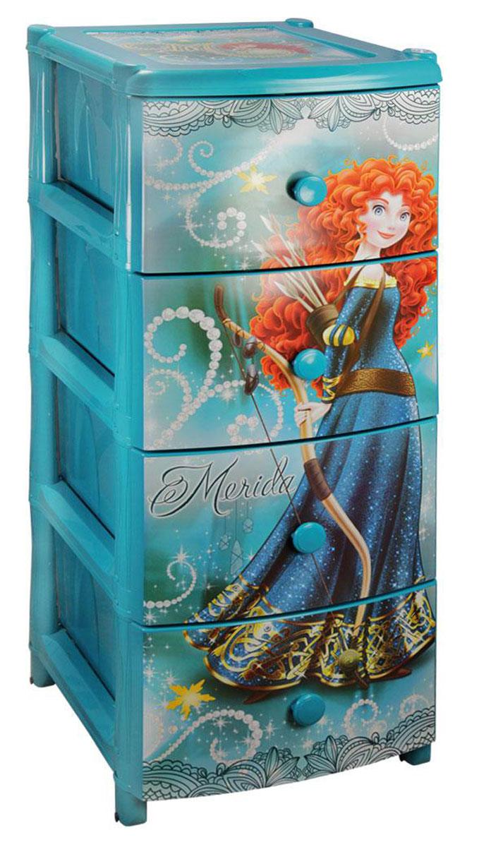 Комод широкий Альтернатива Мерида-Дисней, для девочки, 38 х 48 х 98 смМ2088Комод для девочек Альтернатива Мерида-Дисней изготовлен из высококачественного пластика голубого цвета и декорирован аппликациями. Он предназначен для хранения различных вещей, игрушек и состоит из трех вместительных секций. Комод оснащен колесиками для удобства перемещения. Такой необычный и яркий комод Альтернатива Мерида-Дисней надежно защитит детские вещи от загрязнений, пыли и моли, а также позволит вам хранить их компактно и с удобством. Размер ящиков: 44 см х 31 см х 17 см.