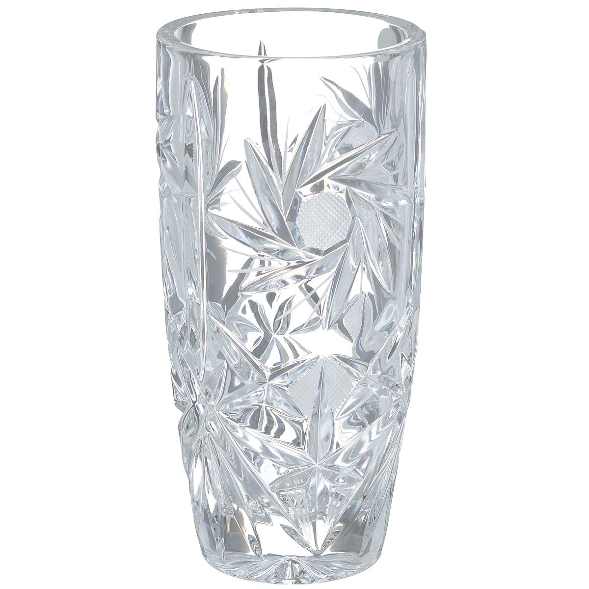 Ваза Crystal Bohemia, высота 20,5 см860/81003/0/49601/205-109Изящная ваза Crystal Bohemia изготовлена из хрусталя. Ваза оформлена красивым рельефным рисунком, что делает ее изящным украшением интерьера. Ваза Crystal Bohemia дополнит интерьер офиса или дома и станет желанным и стильным подарком.