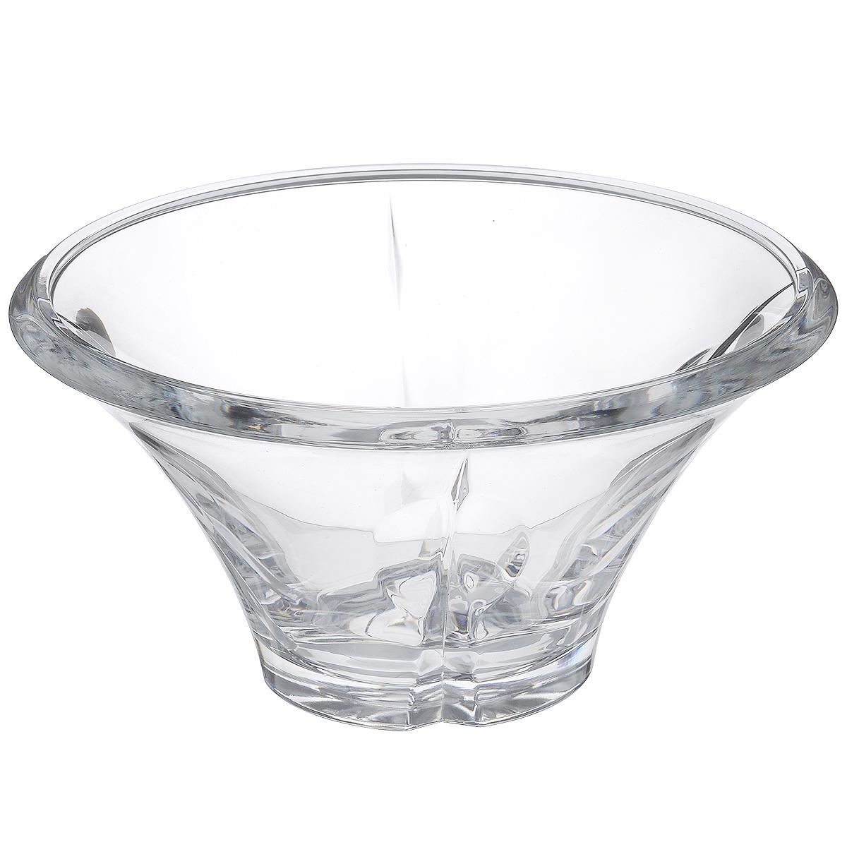Салатник Crystal Bohemia Shali, диаметр 25 см990/61503/0/29099/250-109Салатник Crystal Bohemia Shali изготовлен из хрусталя и выполнен в форме большой чаши, декорированной оригинальным рельефом. Данный салатник сочетает в себе изысканный дизайн с максимальной функциональностью. Он прекрасно впишется в интерьер вашей кухни и станет достойным дополнением к кухонному инвентарю. Такой салатник не только украсит ваш кухонный стол и подчеркнет прекрасный вкус хозяйки, но и станет отличным подарком. Диаметр: 25 см. Высота: 13 см. Диаметр дна: 10 см.