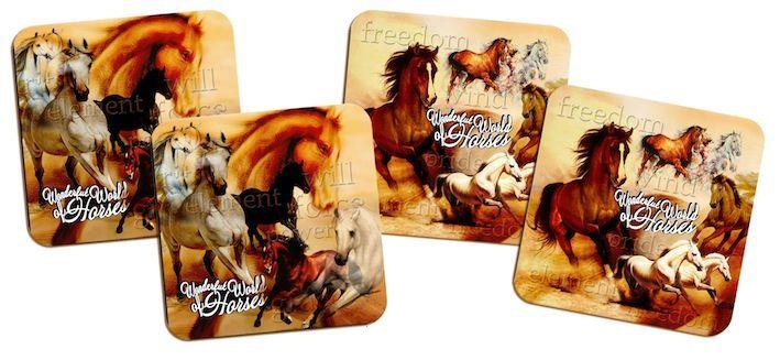 Набор подставок под кружки GiftnHome Удивительный мир лошадей, 10 см х 10 см, 4 штCST-04-WhorseНабор GiftnHome Удивительный мир лошадей содержит четыре квадратные подставки под кружки, выполненные из пробки. Подставки украшены красочным изображением лошадей. Ламинированное покрытие изделий обеспечивает стойкость к высоким температурам. Такие подставки защищают поверхность стола от загрязнений и воздействия высоких температур напитка. Яркий дизайн подставок украсит интерьер вашей кухни и привнесет индивидуальности в обычную сервировку стола. Не рекомендуется полностью погружать изделие в воду. Предельная температура 90°С. Размер подставки: 10 см х 10 см х 0,4 см.