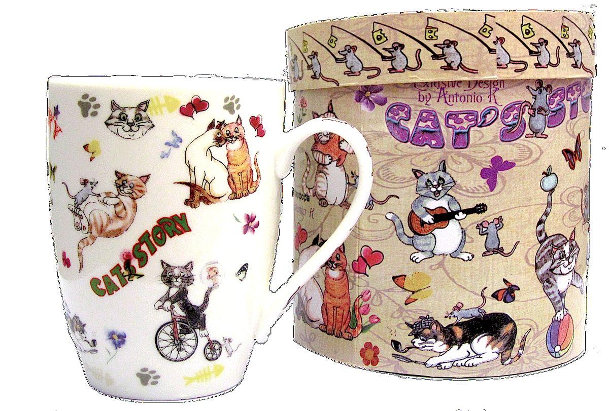 Кружка GiftLand Веселые кошки, 350 млM1114-BON-CatКружка GiftLand Веселые кошки изготовлена из костяного фарфора и оформлена красочным изображением забавных кошек. Кружка упакована в красивую подарочную коробку. Оригинальная кружка порадует вас ярким дизайном и станет неизменным атрибутом чаепития. Прекрасно подойдет в качестве сувенира. Диаметр кружки: 8 см. Высота: 10,5 см. Объем: 350 мл.