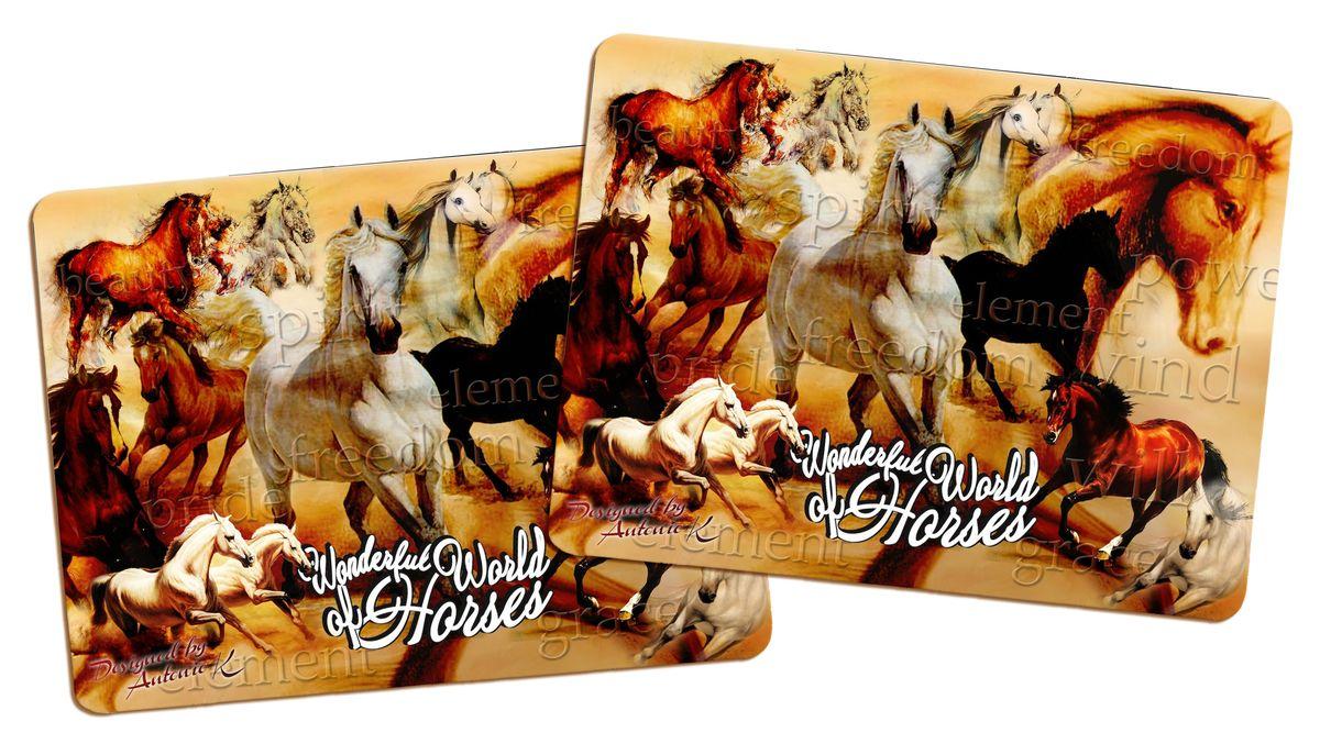 Подставка под горячее GiftnHome Удивительный мир лошадей, пробковая, 21,5 х 29 см, 2 штPLM-02-WhorseПодставки под горячее GiftnHome Удивительный мир лошадей изготовлены из пробки - натурального экологичного материала. В наборе - 2 подставки, декорированные изображениями лошадей. Изделия имеют защитное покрытие на лицевой стороне, которое обеспечивает стойкость к горячему и влаге. Предельная температура, которую выдерживают подставки, составляет 90°С. Изящный дизайн подставок прекрасно дополнит интерьер вашей кухни. Не рекомендуется погружать в воду полностью. Размер подставки: 21,5 см х 29 см.