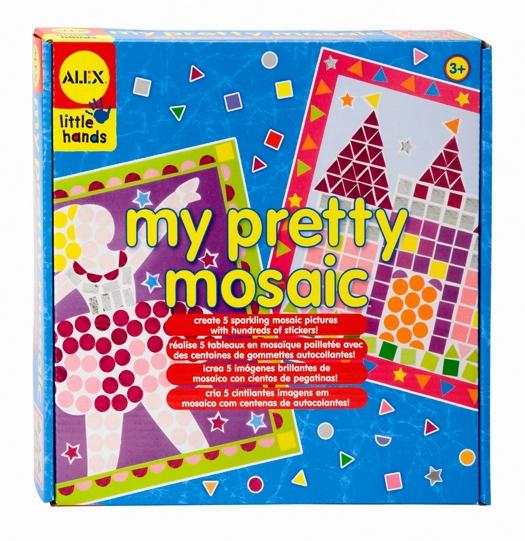Мозаика Alex My pretty mosaic, 5 в 11404Мозаика Alex My pretty mosaic даст возможность вашему ребенку и вам своими руками изготовить 5 красочных картин в технике мозаики. В набор уже входит все необходимое для творчества: 5 основ для мозаики, 1460 самоклеящихся элементов различной формы и иллюстрированная инструкция. Рисунки уже нанесены на шаблоны, а процесс создания мозаики несложен и под силу даже ребенку - достаточно приклеить самоклеящиеся элементы мозаики на подходящие по форме и цвету места, и у вас получится оригинальная картина в технике мозаики. Все элементы имеют увеличенные размеры и подойдут для маленьких пальчиков малыша. Мозаика станет отличным украшением, она впишется в любой интерьер, а также станет оригинальным и красивым подарком на любой праздник. Создавать мозаику не только весело, но и полезно - набор великолепно развивает творческие способности и мелкую моторику, а также формирует аккуратность и художественный вкус. Порадуйте своего ребенка таким замечательным подарком!