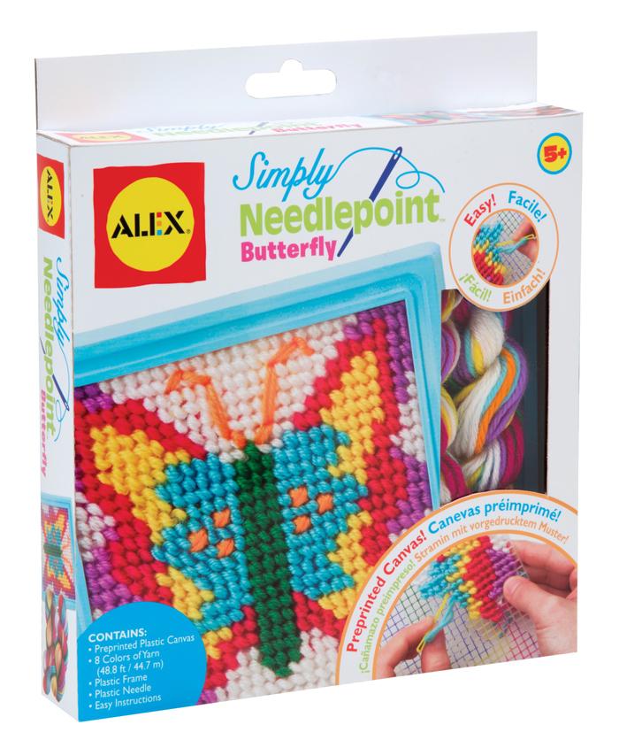 Набор для вышивания Alex Бабочка395BNНабор для вышивания Alex Бабочка прекрасно подойдет вашей малышке и поможет ей познакомиться с основами вышивания. В набор входит пластиковая канва, рамка, пряжа 8 цветов и безопасная пластиковая игла. На канву уже нанесен цветной рисунок, а игла с закругленным кончиком сделает творчество простым и безопасным. С помощью этого набора ваша дочка сама с легкостью создаст великолепную картинку с изображением яркой бабочки. Готовую картину можно украсить входящей в комплект пластиковой рамкой. Такая картина станет предметом гордости малышки и дополнит интерьер детской комнаты. Вышивание - замечательное прикладное искусство, которое так весело и полезно осваивать вместе с ребенком!