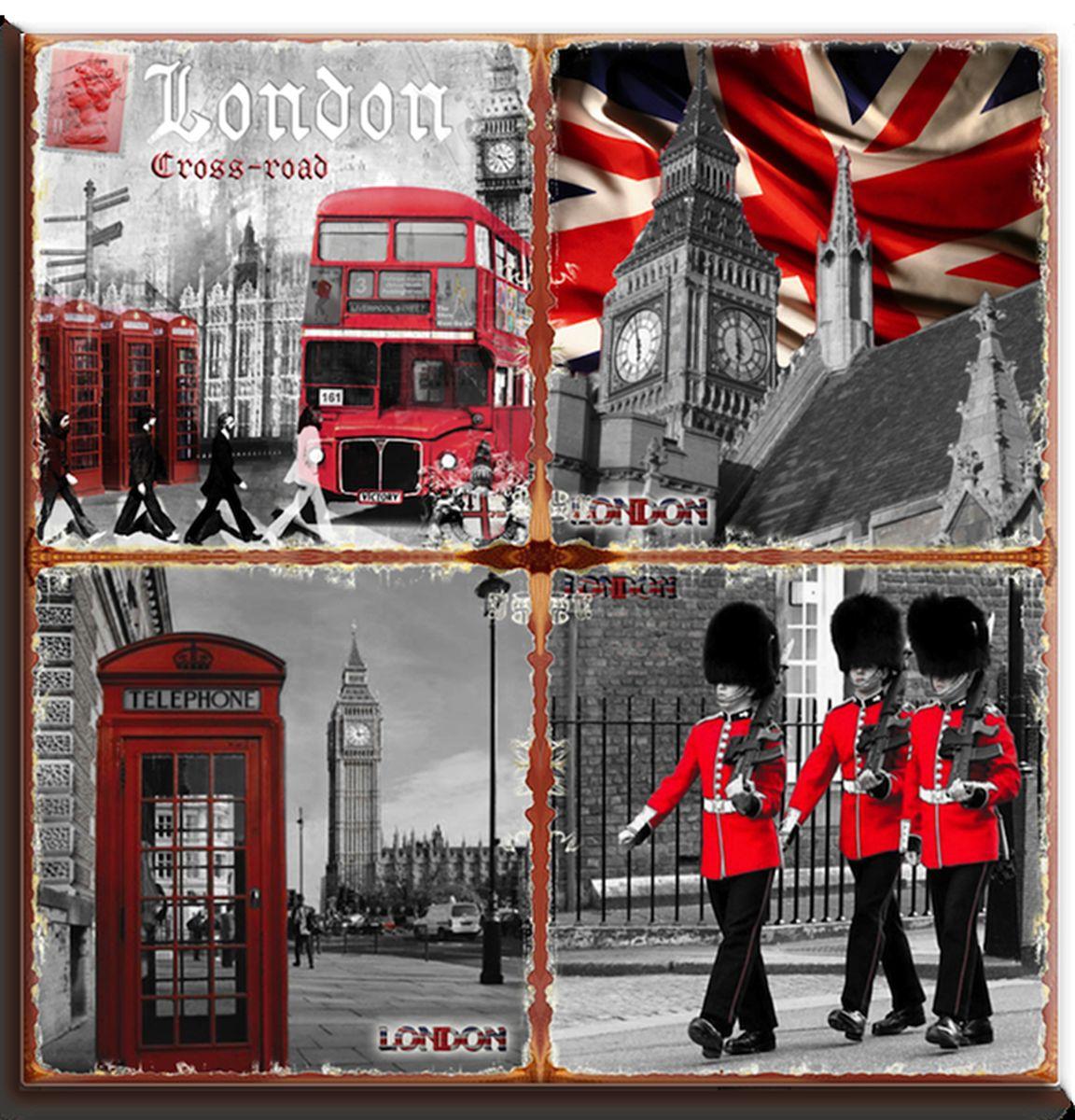 Подставка под горячее GiftnHome Лондон в красных тонах, 20 см х 20 смP20-London RedКвадратная подставка под горячее GiftnHome Лондон в красных тонах выполнена из высококачественной керамики. Изделие, декорированное красочными изображениями достопримечательностей Лондона, идеально впишется в интерьер современной кухни. Специальное пробковое основание подставки защитит вашу мебель от царапин. Изделие не боится высоких температур и легко чиститься от пятен и жира. Каждая хозяйка знает, что подставка под горячее - это незаменимый и очень полезный аксессуар на каждой кухне. Ваш стол будет не только украшен оригинальной подставкой с красивым рисунком, но и сбережен от воздействия высоких температур ваших кулинарных шедевров. Нельзя мыть в посудомоечной машине. Размер подставки: 20 см х 20 см х 0,8 см.