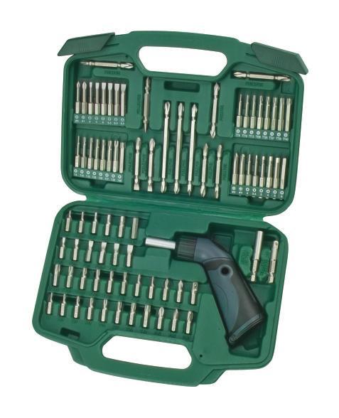 Набор инструментов Sata, 80 предметов. 0932609326Набор инструментов Sata - это необходимый предмет в каждом доме. Он включает в себя 80 предметов, которые умещаются в небольшом пластиковом кейсе. Такой набор будет идеальным подарком мужчине. Состав набора: Биты TORX: Т8, Т10, Т15, Т20, Т25, Т27, Т30, Т40. Биты Phillips: РН0, РН1, РН2, РН2, РН3. Биты шлицевые: 3 мм, 4 мм, 5 мм, 5,5 мм, 6 мм, 6,5 мм. Биты TORX: Т8, Т10, Т15, Т20, Т25, Т27, Т30, Т40. Биты HEX: 2 мм, 2,5 мм, 3 мм, 4 мм, 5 мм, 6 мм. Биты TORX удлиненные: Т8, Т10, Т15, Т20, Т25, Т27, Т30, Т40. Биты Phillips удлиненные: РН0, РН1, РН2, РН3. Биты шлицевые удлиненные: 2 мм, 2,5 мм, 3 мм, 4 мм, 5 мм, 6 мм. Биты TORX удлиненные: Т8, Т10, Т15, Т20, Т25, Т27, Т30, Т40. Биты НЕХ удлиненные: 2 мм, 2,5 мм, 3 мм, 4 мм, 5 мм, 6 мм. Биты двухсторонние длиной 65 мм: РН1-РН2, РН2-РН2, РН3-РН3, 4,5 мм-РН1, 5,5 мм-РН2, 6,5 мм-РН3; Биты двухсторонние длиной 110 мм:: РН1-РН2, РН2-РН3, РН1-РН1, РН2-РН2, РН3-РН3. ...