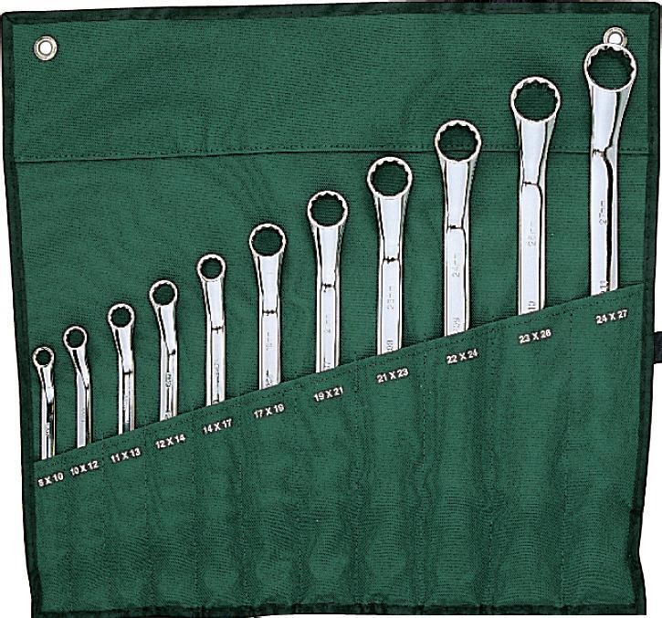 Набор ключей SATA 11пр. 0902809028Набор Sata - это необходимый предмет в каждом доме и автомобиле. Набор прекрасно подойдет для проведения ремонтных работ. Все инструменты выполнены из высококачественной стали. В набор входят ключи метрические накидные размером: 8 х 10 мм, 10 х 12 мм, 11 х 13 мм, 12 х 14 мм, 14 х 17 мм, 17 х 19 мм, 19 х 21 мм, 21 х 23 мм, 22 х 24 мм, 23 х 26 мм, 24 х 27 мм.