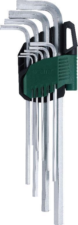 Набор шестигранников SATA 9 шт. 09103A09103AНабор шестигранных метрических удлиненных угловых ключей Sata предназначен для работы с резьбовыми соединениями. Все шестигранники имеют правильную форму, размеры их точно совпадают со стандартными. Скошенные грани на концах позволяют быстро и без труда вставить ключ в отверстие. Изготавливаются из хромованадиевой стали для придания максимальной прочности и износоустойчивости. Усилие вращающего момента соответствует ANSI договору. Размеры: 1,5 мм, 2 мм, 2,5 мм, 3 мм, 4 мм, 5 мм, 6 мм, 8 мм, 10 мм.
