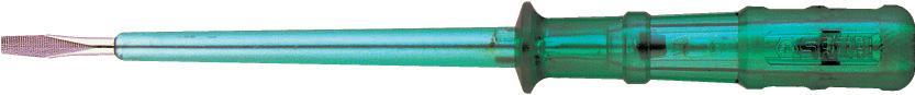 Индикаторная отвертка SATA 6250162501Индикаторная отвертка Sata предназначена для определения полярности контактов силовых цепей (фаза-ноль), напряжения и проводимости источников переменного и постоянного тока при проведении электромонтажных работ. Максимальное напряжение: 500 В.
