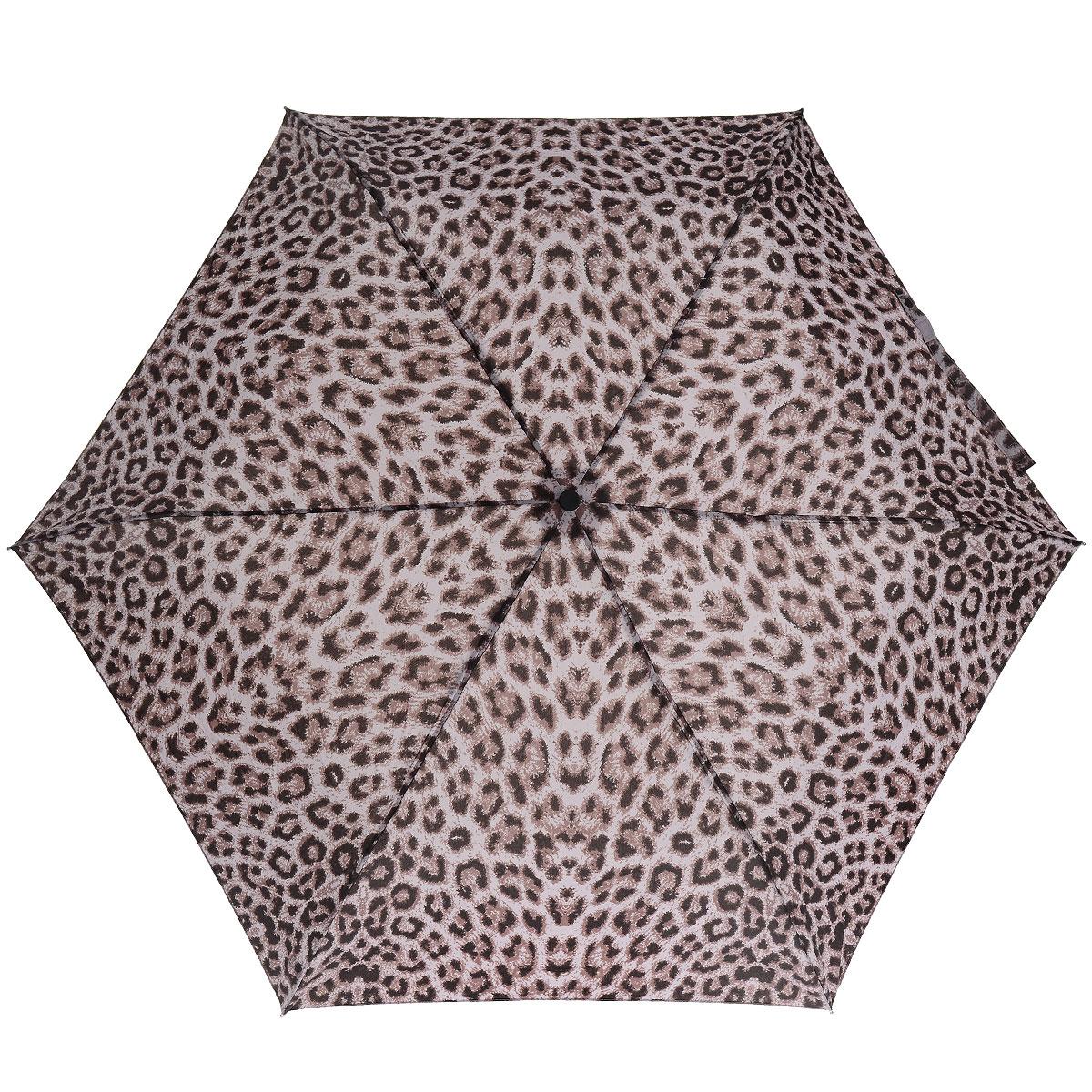 """Зонт женский Fulton Puma Purple, механический, 3 сложения, цвет: темно-розовыйL553 3F2626Стильный зонт Fulton """"Puma Purple"""" защитит от непогоды, а его компактный размер позволит вам всегда носить его с собой. """"Ветростойкий"""" алюминиевый каркас в 3 сложения состоит из шести спиц с элементами из фибергласса, зонт оснащен удобной рукояткой из пластика. Купол зонта выполнен из прочного полиэстера и оформлен леопардовым принтом. На рукоятке для удобства есть небольшой шнурок-резинка, позволяющий надеть зонт на руку тогда, когда это будет необходимо. К зонту прилагается чехол на липучке. Зонт механического сложения: купол открывается и закрывается вручную, стержень также складывается вручную до характерного щелчка."""