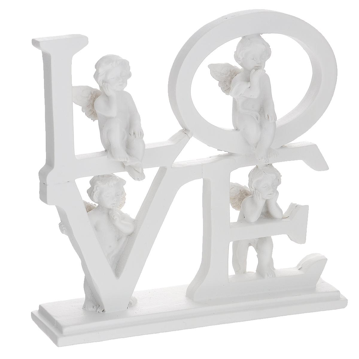 Фигурка декоративная Четыре ангела, цвет: белый. 3667436674Очаровательная фигурка Четыре ангела станет оригинальным подарком для всех любителей стильных вещей. Она выполнена из полирезины в виде четырех разных ангелов. Изысканный сувенир станет прекрасным дополнением к интерьеру. Вы можете поставить фигурку в любом месте, где она будет удачно смотреться, и радовать глаз.