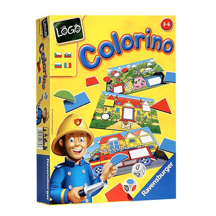Ravensburger Настольная игра Colorino: Цвета и формы24369Настольная игра Ravensburger Colorino: Цвета и формы позволит вашему ребенку весело и с пользой провести время. Цель игры - находить в стопке фигуры и укладывать их в соответствующие отверстия на игровых полях, составляя красивый узор. Каждый ребенок получает игровое поле и старается заполнить ее 7 подходящими карточками. По желанию дети могут обращать внимание на то, чтобы цвета гармонировали с рисунком. Игра имеет три уровня сложности для детей разного возраста. В комплект игры входят 4 игровых поля с различными рисунками, 64 карточки в виде геометрических фигур разных цветов, кубик с цветами, кубик с формами и правила игры на русском языке. Игра развивает чувство формы, цвета, логику. Рекомендуемый возраст: от 3 до 6 лет. Продолжительность игры: 10-15 минут.