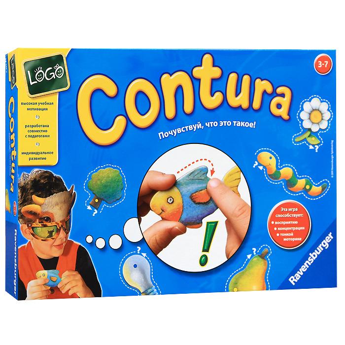 Ravensburger Настольная игра Contura24437Настольная игра Ravensburger Контуры займет внимание вашего малыша надолго. Надев маски, игрокам предстоит вытащить фигуру и наощупь, обводя пальцами контур, определить, что она изображает. Тот, кто отгадает наибольшее количество фигур, становится победителем. Классическая игра предусматривает множество вариантов как для нескольких игроков, так и для одного игрока: Узнай фигуру, Лото по картинкам и Лото на ощупь. Комплект игры включает 5 карточек с 40 фигурками, 2 картонные маски и подробные правила игры на русском языке. Игра способствует развитию концентрации, наблюдательности и мелкой моторики рук. Рекомендуемый возраст: от 3 до 7 лет. Продолжительность игры: 15-20 минут.