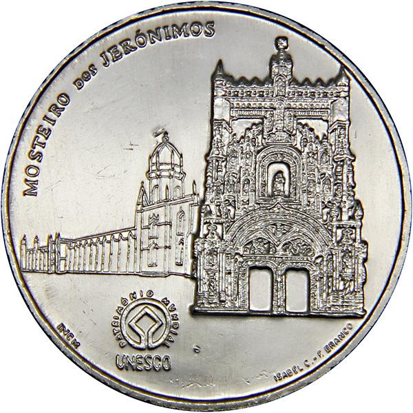 Монета номиналом 2,5 евро Монастырь иеронимитов в Лиссабоне. Португалия, 2009 годK421306Металл: Cu-Ni Диаметр: 28 мм. Масса: 10,0 гр. Состояние: UNC (без обращения)