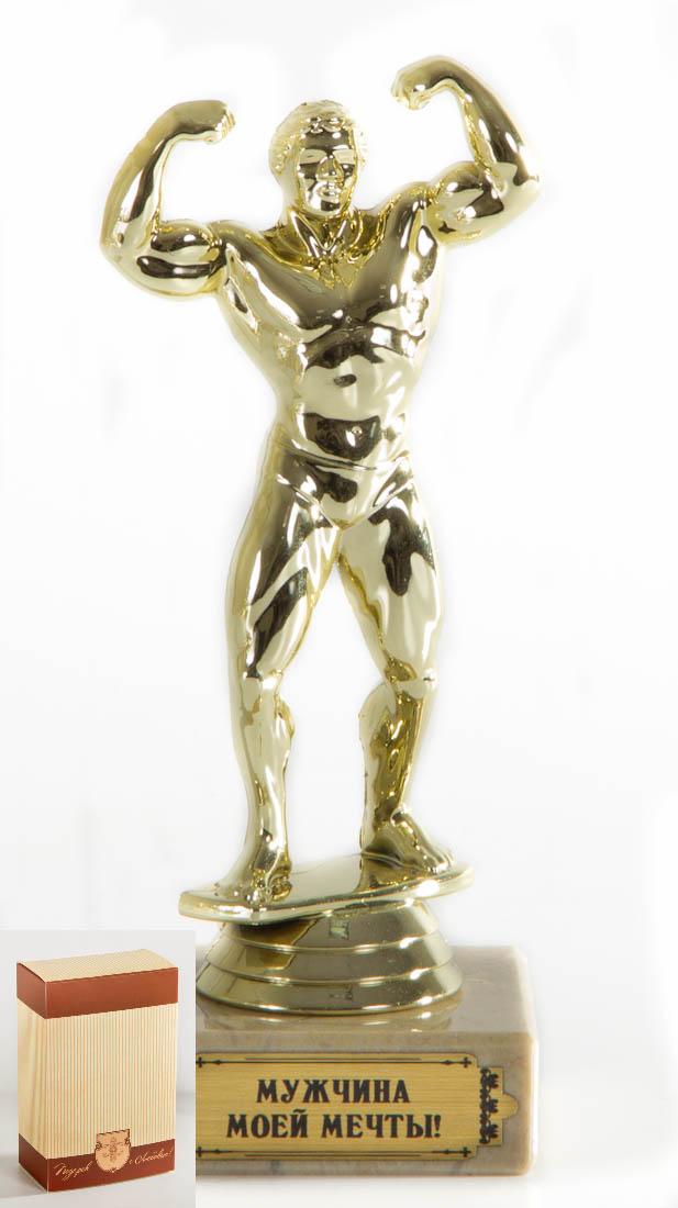 Кубок Бодибилдинг Мужчина моей мечты!, h15см, картонная коробка030530006Фигурка подарочная объемная,с основанием из искусственного мрамора h 15см