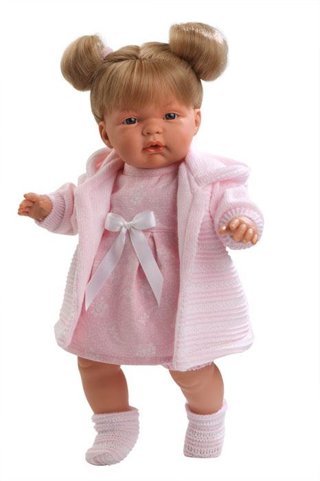LIorens Интерактивная кукла ЛюсияL 38280Интерактивная кукла LIorens Люсия выглядит и ведет себя как настоящий ребенок. У Люсии белокурые волосы и очаровательные глазки. Кукла одета в шортики, платьице и вязаную розовую кофточку. На ногах у нее уютные носочки. В комплект входит соска на цепочке. Если вынуть ее изо рта, малышка начинает плакать и говорить: Мама, папа!. Достаточно снова дать соску Люсии, и она тут же успокоится. У куклы мягконабивное тельце, а подвижные голова, ножки и ручки выполнены из ПВХ. Игра с куклой разовьет в вашей малышке фантазию и любознательность, поможет овладеть навыками общения и научит ролевым играм, воспитает чувство ответственности и заботы. Порадуйте ее таким замечательным подарком! Рекомендуется докупить 3 батарейки напряжением 1,5V типа AG13/LR44 (товар комплектуется демонстрационными).