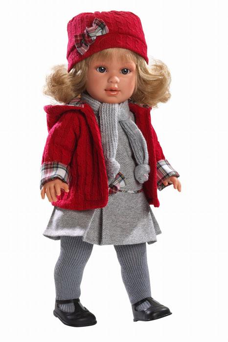 LIorens Пупс Мартина цвет красный серыйL 54008Кукла LIorens Мартина выглядит как настоящий ребенок. У нее очаровательные глазки и светлые волосы. Кукла одета в колготки, платьице, модный жакет и вязаный шарфик. На голове у малышки элегантная шляпка, а на ногах черные ботиночки. У Мартины мягконабивное тельце, а подвижные голова, ножки и ручки выполнены из ПВХ. Игра с куклой разовьет в вашей малышке фантазию и любознательность, поможет овладеть навыками общения и научит ролевым играм, воспитает чувство ответственности и заботы. Порадуйте ее таким замечательным подарком!