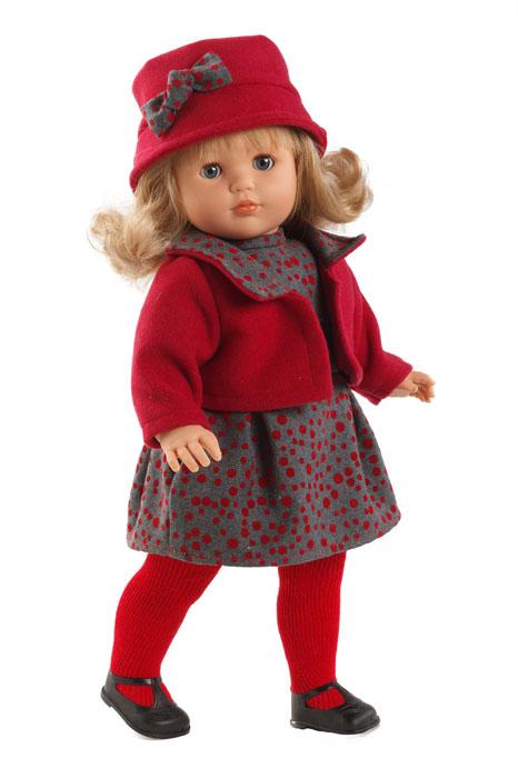 Llorens Пупс Лаура цвет красныйL 54501Кукла LIorens Лаура выглядит как настоящий ребенок. У нее очаровательные глазки и светлые волосы. Кукла одета в колготки, платьице и красный жакет. На голове у малышки элегантная шляпка, а на ногах черные ботиночки. У Лауры мягконабивное тельце, а подвижные голова, ножки и ручки выполнены из ПВХ. Если куклу положить, у нее закроются глазки. Игра с куклой разовьет в вашей малышке фантазию и любознательность, поможет овладеть навыками общения и научит ролевым играм, воспитает чувство ответственности и заботы. Порадуйте ее таким замечательным подарком!