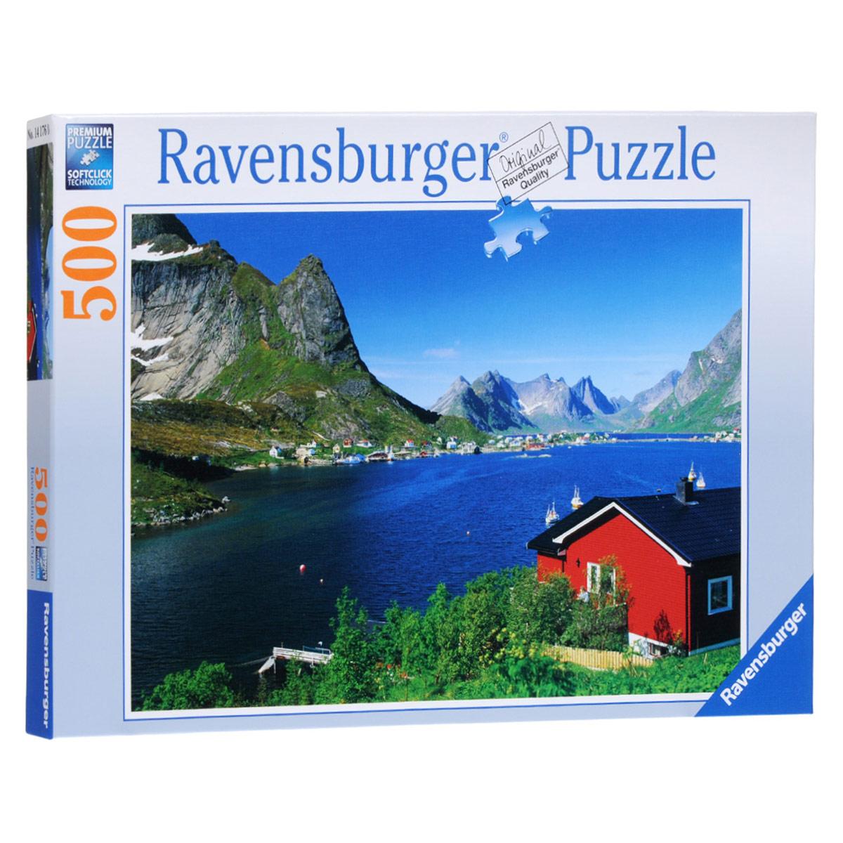 Ravensburger Норвежский фьорд. Пазл, 500 элементов14176Пазл Ravensburger Норвежский фьорд, без сомнения, придется по душе вам и вашему малышу. Собрав этот пазл, включающий в себя 500 элементов, вы получите великолепную картину с изображением живописного норвежского фьорда. На картинке можно увидеть красный домик, который стоит на берегу фьорда, на фоне высоких гор. Пазл изготовлен по технологии Softclick, которая гарантирует 100% блокировку механизма. Каждая деталь имеет свою форму и подходит только на своё место. Нет двух одинаковых деталей! Пазл изготовлен из картона высочайшего качества. Все изображения аккуратно отсканированы и напечатаны на ламинированной бумаге. Пазл - великолепная игра для семейного досуга. Сегодня собирание пазлов стало особенно популярным, главным образом, благодаря своей многообразной тематике, способной удовлетворить самый взыскательный вкус. А для детей это не только интересно, но и полезно. Собирание пазла развивает мелкую моторику у ребенка, тренирует наблюдательность, логическое мышление,...