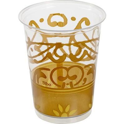 """Набор одноразовых стаканов Bibo """"Gold"""", цвет: прозрачный, золотистый, 230 мл, 10 шт 6959"""