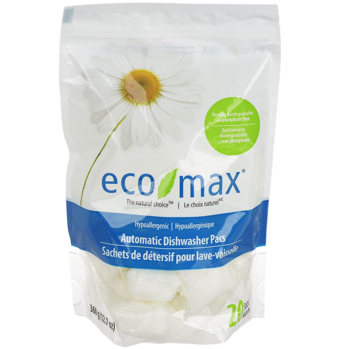 Капсулы гипоаллергенные для автоматической мойки посуды Eco Max, 360 гEmax-C126Натуральный гипоаллергенный порошок Eco Max для мытья посуды - прорыв в зеленой технологии очистки, использующей активные чистящие свойства ингредиентов, полученных из биоразлагаемых и возобновляемых растительных источников. Без запаха. Без следов на посуде. Придает блеск. Состав: натрия цитрат, натрия карбонат, перкарбонат, аспаргиновая кислота, натрия силикат, ПАВ, лимонная кислота, протеаза, амилаза, поливиниловый спирт.