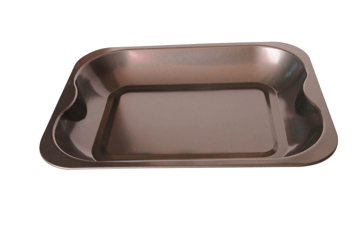Противень BekkerBK-665338*30*4,5см, корпус 0,4мм, антиприг. покрытие Goldflon . Состав: углеродистая сталь.
