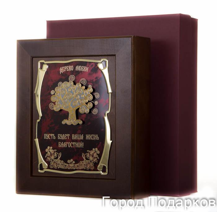 Ключница Дерево любви Пусть будет Ваша жизнь благостной,36,5х32см, подарочная коробка50215002Настенная ключница из натурального дерева, с натурального деревас внутренней бархатной отделкой, декорированна метализированной пластиной с лазерной гравировкой и накладкой, упакованна в подарочный футляр, размер 36,5х32х7 см, коричневый/золотой
