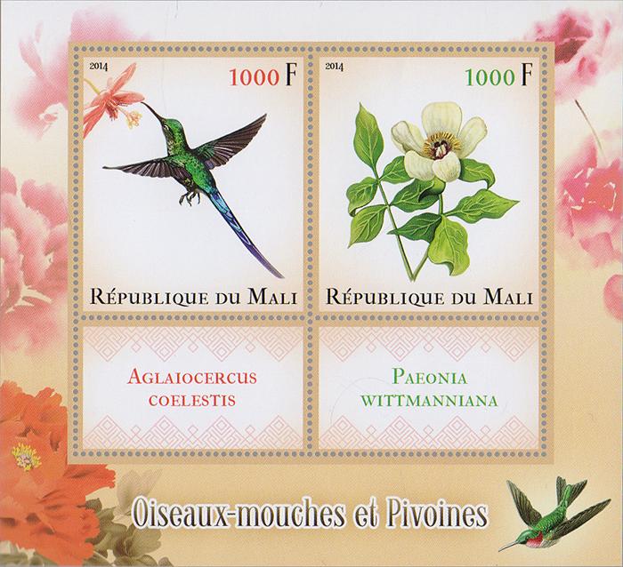 Почтовый блок Птицы и цветы. Мали, 2014 годK421306Почтовый блок Птицы и цветы. Мали, 2014 год. Размер блока: 11 х 12 см. Размер марок: 5.5 х 4.5 см, 3 х 4.5 см. Сохранность хорошая.