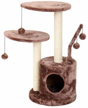 Игровая площадка для кошек Fauna Studio, цвет: коричневый, 35 см х 35 см х 71 см49697Игровая площадка для кошек Fauna Studio обязательно понравится вашей кошке и станет ее излюбленным местом для отдыха и игр. Площадка изготовлена из ДВП и обтянута мягким плюшевым текстилем. Имеет 3 уровня: 2 плоские площадки и домик. Для игр предусмотрены подвесные игрушки на веревках, а чтобы поточить когти - два столбика-когтеточки. Площадка сконструирована так, чтобы кошка подумала, что перед ней большое дерево, на которое можно вскарабкаться. В домик кошка может забраться, чтобы спрятаться и подремать, а полки станут прекрасным местом для развлечений. Игровые площадки Fauna созданы с любовью, вниманием и заботой о ваших кошках. Этим пушистым непоседам нравится играть и прыгать, забираться повыше, точить когти, прятаться в укромных местах и сладко спать в теплых уютных домиках. Компания Fauna International представляет новую серию современных игровых площадок для веселых игр и сладких снов!
