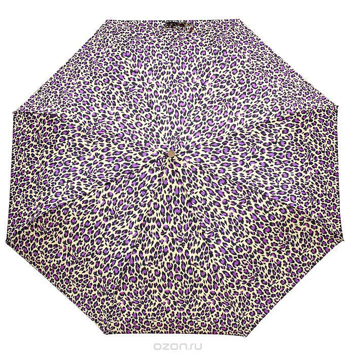 Зонт женский Edmins, автомат, 3 сложения, цвет: бежевый, сиреневый. 112 47112 47Автоматический зонт Edmins в 3 сложения даже в ненастную погоду позволит вам оставаться стильной и элегантной. Каркас зонта выполнен из восьми металлических спиц, удобная рукоятка - из прорезиненного пластика. Зонт имеет полный автоматический механизм сложения: купол открывается и закрывается нажатием кнопки на рукоятке, стержень складывается вручную до характерного щелчка. Купол зонта выполнен из прочного полиэстера бежевого и сиреневого цветов. На рукоятке для удобства есть небольшой шнурок, позволяющий надеть зонт на руку тогда, когда это будет необходимо. К зонту прилагается чехол.