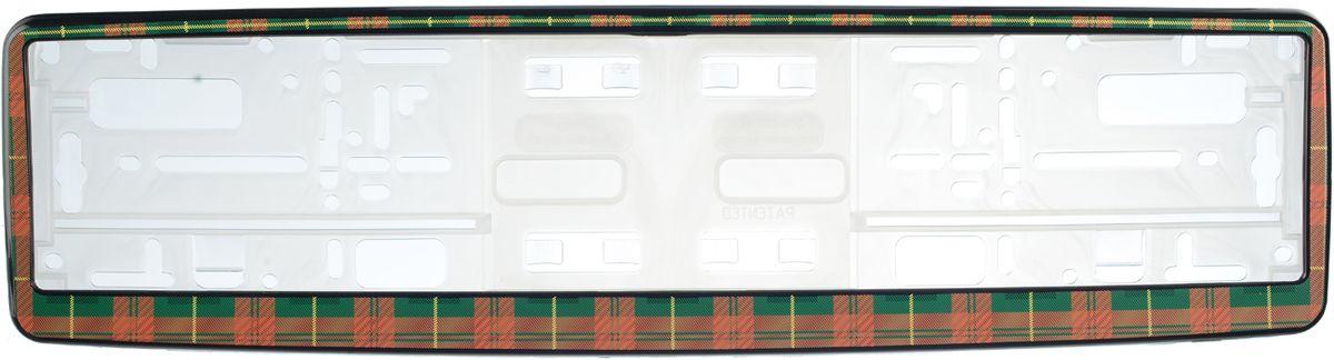 Рамка под номер КлеткаЗ0000014133Рамка Клетка не только закрепит регистрационный знак на вашем автомобиле, но и красиво его оформит. Основание рамки выполнено из полипропилена, материал лицевой панели - пластик. Она предназначена для крепления регистрационного знака российского и европейского образца, декорирована орнаментом. Устанавливается на все типы автомобилей. Крепления в комплект не входят. Стильный дизайн идеально впишется в экстерьер вашего автомобиля. Размер рамки: 53,5 см х 13,5 см. Размер регистрационного знака: 52,5 см х 11,5 см.