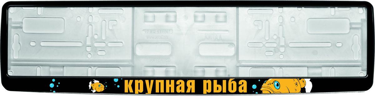 Рамка под номер Крупная рыбаЗ0000012318Рамка Крупная рыба не только закрепит регистрационный знак на вашем автомобиле, но и красиво его оформит. Основание рамки выполнено из полипропилена, материал лицевой панели - пластик. Она предназначена для крепления регистрационного знака российского и европейского образца, декорирована рисунком и надписью Крупная рыба. Устанавливается на все типы автомобилей. Крепления в комплект не входят. Стильный дизайн идеально впишется в экстерьер вашего автомобиля. Размер рамки: 53,5 см х 13,5 см. Размер регистрационного знака: 52,5 см х 11,5 см.