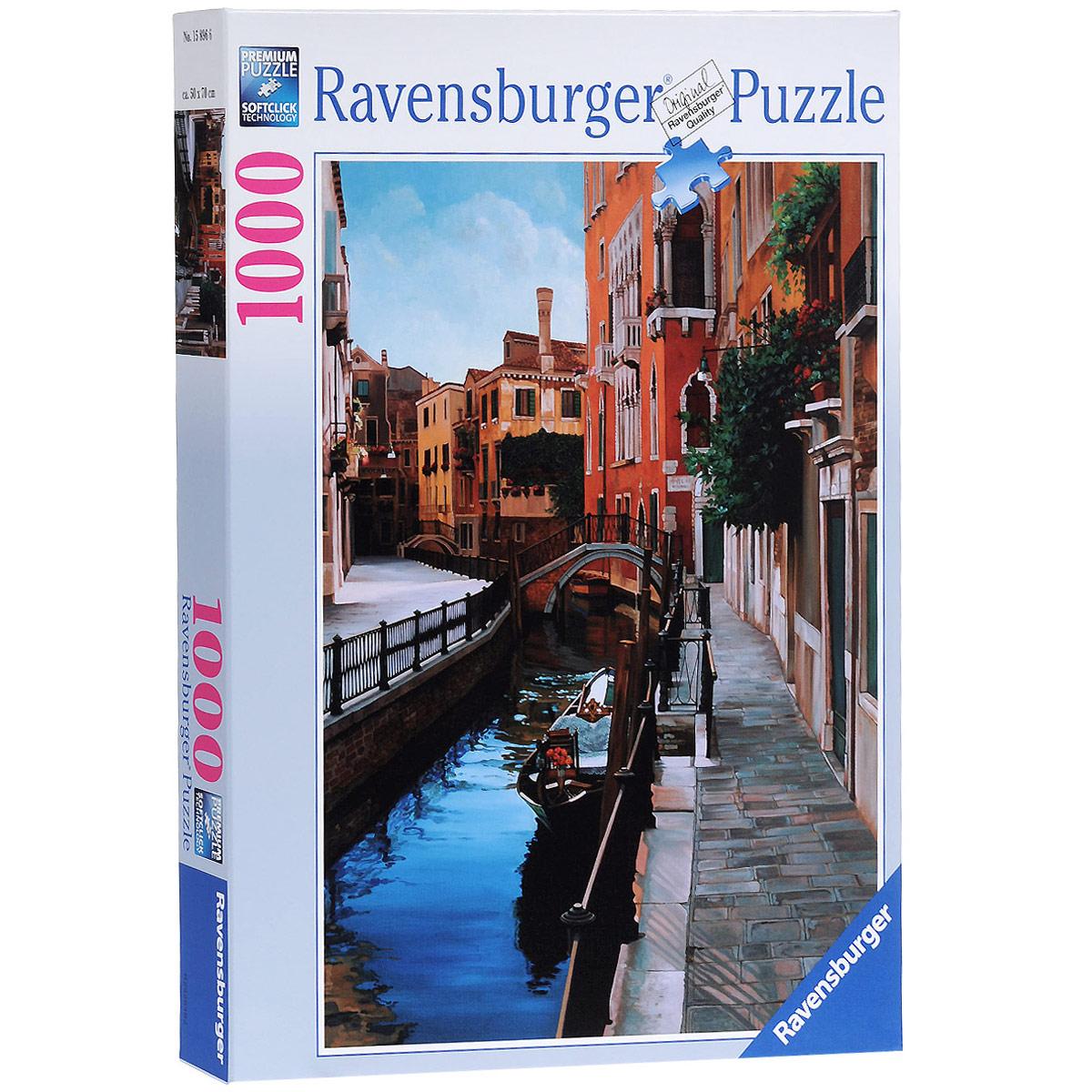 Ravensburger Венеция. Пазл, 1000 элементов15896Пазл Ravensburger Венеция, без сомнения, придется по душе вашему ребенку. Собрав этот пазл, включающий в себя 1000 элементов, вы получите великолепную картину. Каждая деталь имеет свою форму и подходит только на своё место. Нет двух одинаковых деталей! Пазл изготовлен из картона высочайшего качества. Все изображения аккуратно отсканированы и напечатаны на ламинированной бумаге. Пазлы - замечательная развивающая игра для детей. Собирание пазла развивает у ребенка мелкую моторику рук, тренирует наблюдательность, логическое мышление, знакомит с окружающим миром, с цветом и разнообразными формами, учит усидчивости и терпению, аккуратности и вниманию.