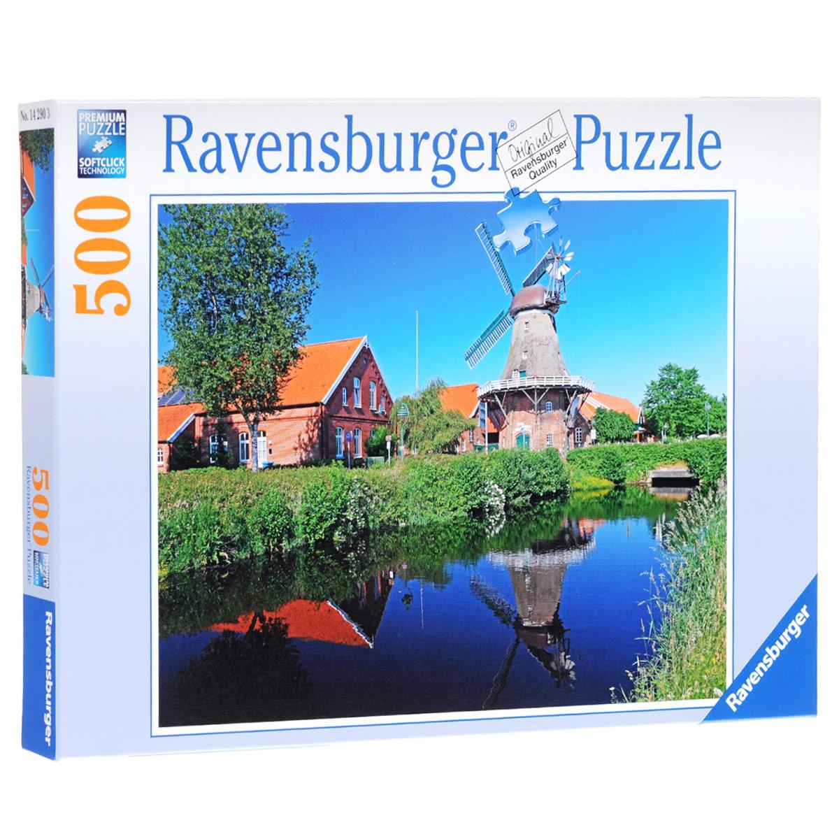 Ravensburger Ветряная мельница. Пазл, 500 элементов14290Пазл Ravensburger Ravensburger Ветряная мельница, без сомнения, придется по душе вашему ребенку. Собрав этот пазл, включающий в себя 500 элементов, вы получите великолепную картину. Каждая деталь имеет свою форму и подходит только на своё место. Нет двух одинаковых деталей! Пазл изготовлен из картона высочайшего качества. Все изображения аккуратно отсканированы и напечатаны на ламинированной бумаге. Пазлы - замечательная развивающая игра для детей. Собирание пазла развивает у ребенка мелкую моторику рук, тренирует наблюдательность, логическое мышление, знакомит с окружающим миром, с цветом и разнообразными формами, учит усидчивости и терпению, аккуратности и вниманию.