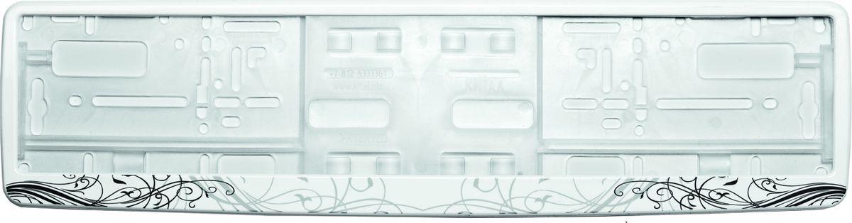 Рамка под номер АР-Деко. З0000012353З0000012353Рамка АР-Деко не только закрепит регистрационный знак на вашем автомобиле, но и красиво его оформит. Основание рамки выполнено из полипропилена, материал лицевой панели - пластик. Она предназначена для крепления регистрационного знака российского и европейского образца, декорирована орнаментом. Устанавливается на все типы автомобилей. Крепления в комплект не входят. Стильный дизайн идеально впишется в экстерьер вашего автомобиля. Размер рамки: 53,5 см х 13,5 см. Размер регистрационного знака: 52,5 см х 11,5 см.