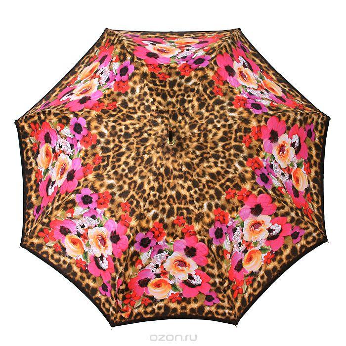 Зонт-трость Guy de Jean Bahamas, полуавтомат, цвет: цветнойBAHAMAS_цветнойЭлегантный полуавтоматический зонт-трость Bahamas имеет каркас из 8 металлических спиц. Купол выполнен из прочного полиэстера и оформлен изображением в виде ярких крупных цветов. Удобная рукоятка из пластика выполнена в форме полукруга. Зонт имеет полуавтоматический механизм складывания-раскладывания: купол открывается путем нажатия кнопки на рукоятке; складывается зонт вручную до характерного щелчка. Зонт-трость Guy de Jean Bahamas даже в ненастную погоду позволит вам оставаться женственной и стильной.