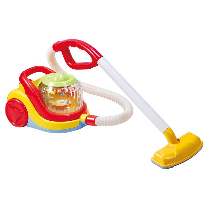 Playgo Пылесос Compact Vacuum CleanerPlay 3470Пылесос Playgo My Vacuum Cleaner непременно понравится вашему малышу и не позволит ему скучать. Пылесос выполнен из прочного безопасного пластика ярких цветов и оснащен удобной ручкой для переноски. При включении пылесоса, в прозрачном барабане на корпусе будут вращаться и сверкать красочные конфетти. Длинный гибкий шланг пылесоса, а также удобная эргономичная ручка сделают игру малыша комфортной и приятной. Такая игрушка поможет ребенку развить звуковое восприятие, мелкую моторику рук и координацию движений, а также станет важным элементом сюжетно-ролевых игр ребенка и познакомит его с работой настоящих бытовых приборов. Порадуйте вашего малыша таким замечательным подарком! Необходимо докупить 3 батарейки напряжением 1,5V типа АА (не входят в комплект).