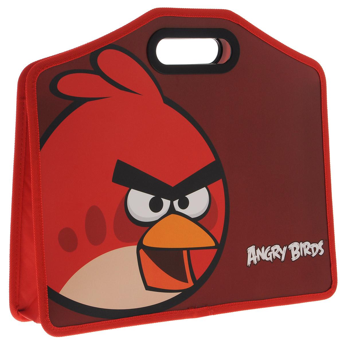 Папка-портфель Centrum Angry Birds, формат А484493Папка-портфель Angry Birds станет вашим верным помощником дома и в школе. Это удобный и функциональный инструмент, предназначенный для хранения и транспортировки бумаг формата А4, а также тетрадей и канцелярских принадлежностей. Папка изготовлена из износостойкого высококачественного пластика и состоит из одного вместительного отделения. Края папки обшиты полиэстером, а уголки закруглены для обеспечения дополнительной прочности и сохранности опрятного вида папки. Папка оснащена двумя удобными пластиковыми ручками и оформлена изображением героя знаменитой игры Angry Birds - красной птицы. Папка - это незаменимый атрибут для любого студента или школьника. Такая папка надежно сохранит ваши бумаги и сбережет их от повреждений, пыли и влаги, а любимые герои обязательно поднимут настроение!