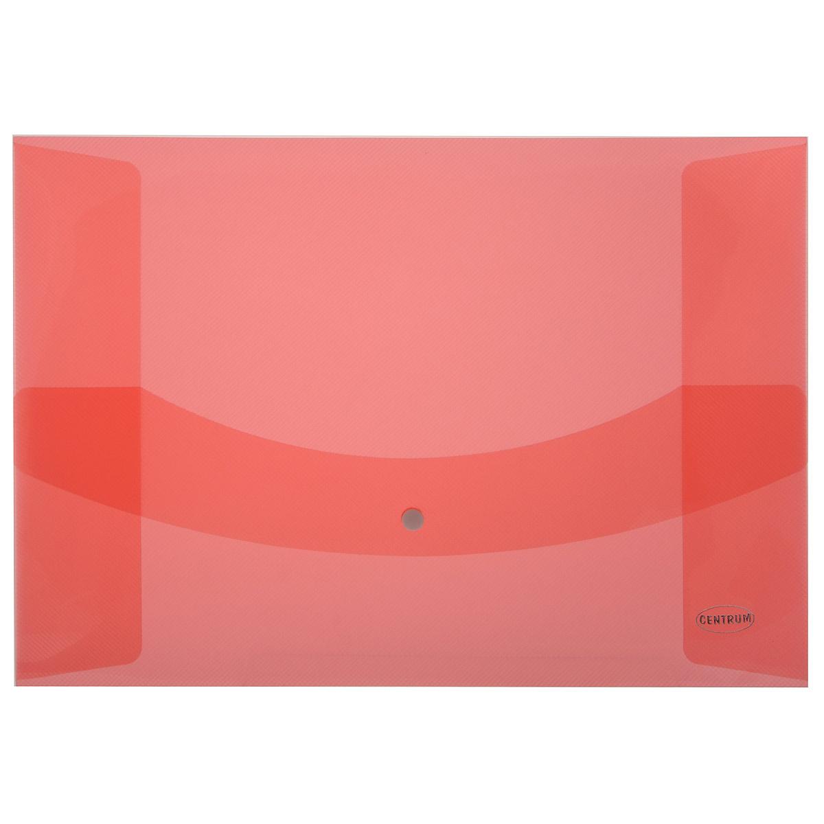 """Папка-конверт на кнопке """"Centrum"""", цвет: красный. Формат А3 80626"""