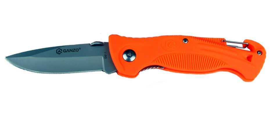Нож складной туристический Ganzo G611 оранжевый