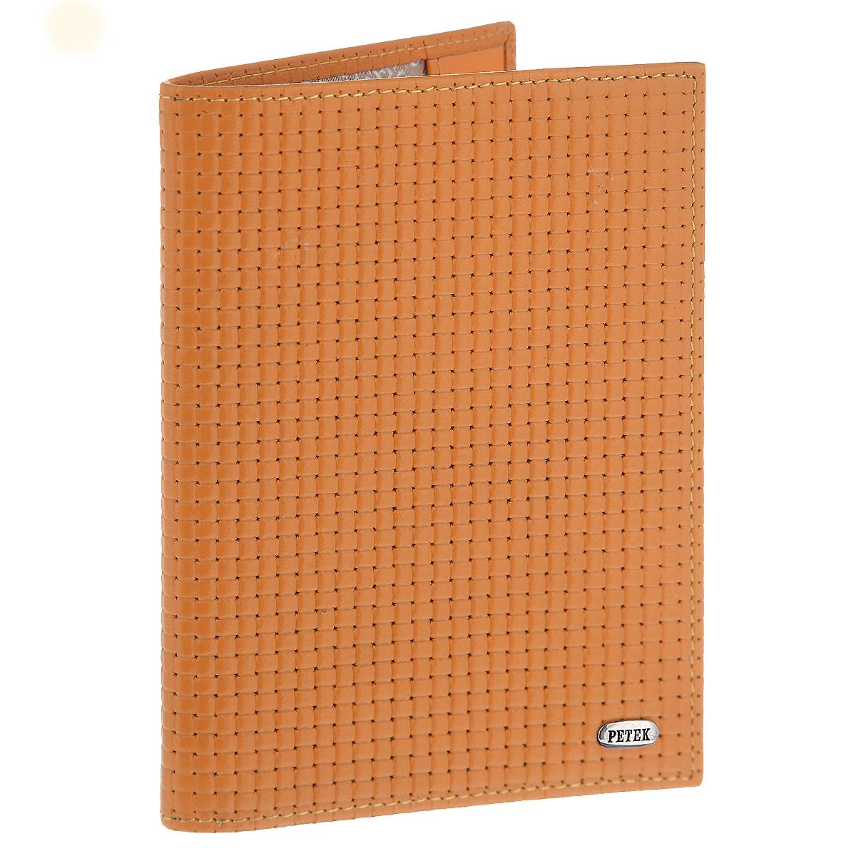 Обложка для паспорта Petek581.020.89 Orange PopsicleОбложка на паспорт Petek выполнена из натуральной высококачественной кожи с фактурным тиснением и оформлена металлической пластиной с надписью в виде логотипа бренда. Внутри обложка отделана атласным текстилем. На внутреннем развороте имеет два кармана из натуральной кожи для надежной фиксации. Стильная обложка не только защитит ваши документы, но и станет аксессуаром, подчеркивающим ваш образ. Изделие упаковано в фирменную коробку коричневого цвета с логотипом фирмы Petek 1855.