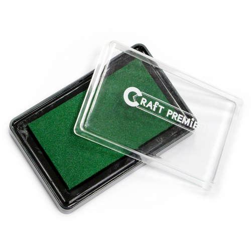 Штемпельная подушечка Зеленый Craft Premier, 1шт.21110-3Штемпельная подушечка Зеленый Craft Premier, 1шт.