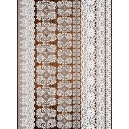 Рисовая бумага для декупажа Craft Premier, A3, 25г/м, Кружева-1CP08920Плотность бумаги 25 г/м