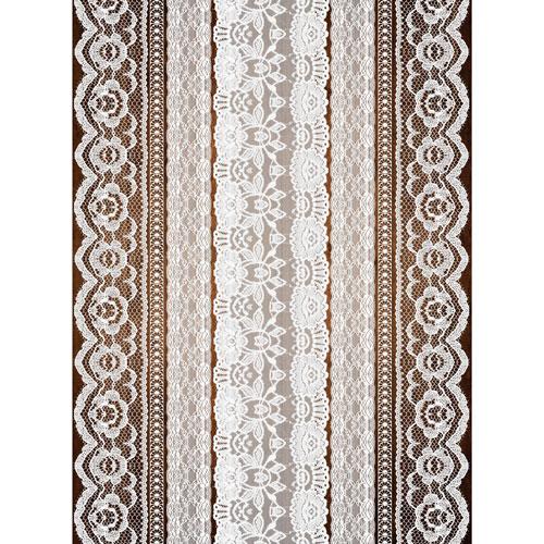 Рисовая бумага для декупажа Craft Premier, A3, 25г/м, Кружева-2CP08937Плотность бумаги 25 г/м