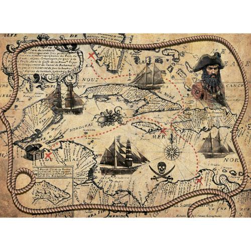 Рисовая бумага для декупажа Craft Premier, A3, 25г/м, Пиратская картаCP09439Плотность бумаги 25 г/м