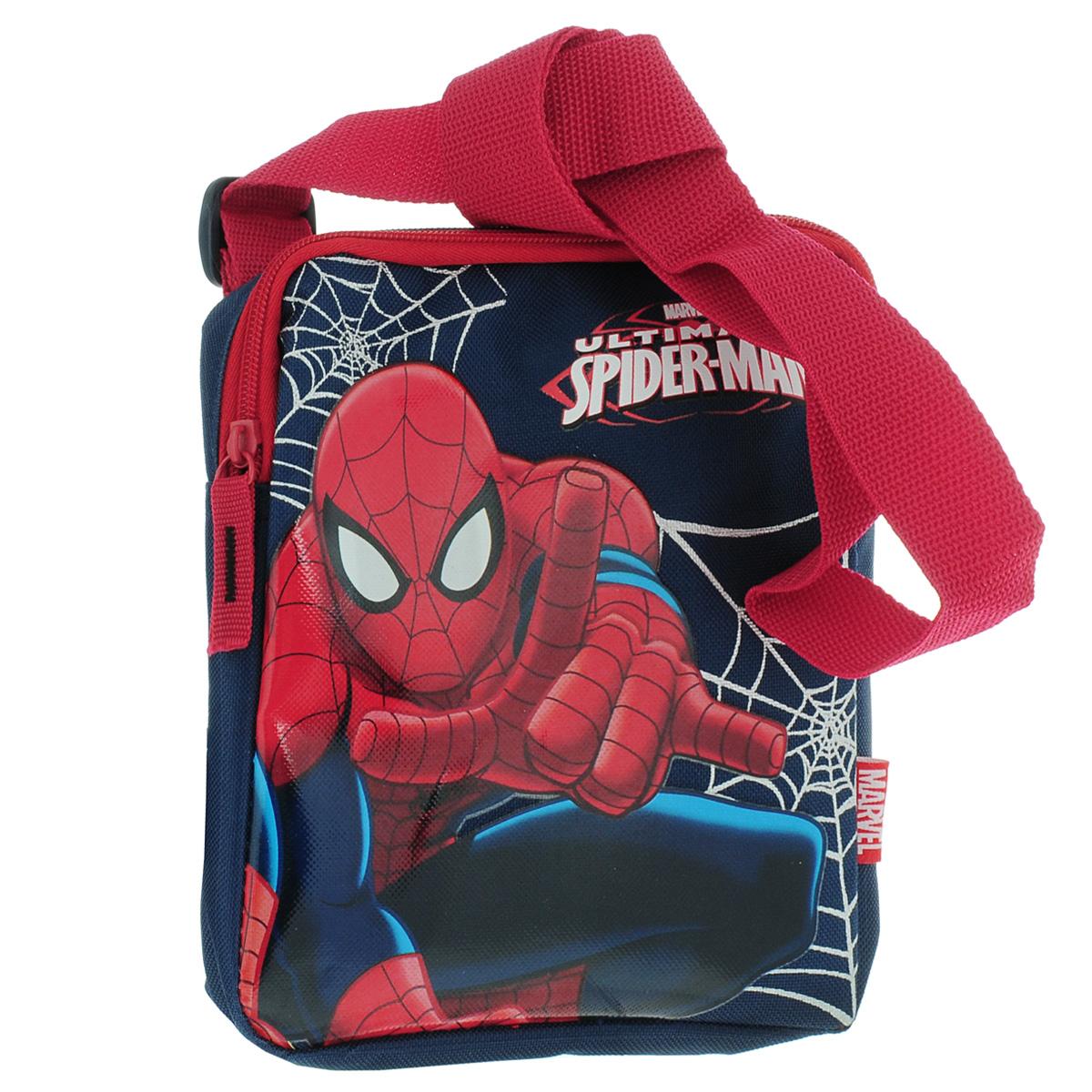 Сумка детская на плечо Spider-Man, цвет: синий, красныйSMAP-UT-4084
